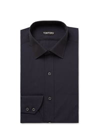 Tom Ford Midnight Blue Slim Fit Cotton Poplin Shirt