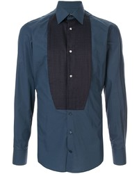 Dolce & Gabbana Pleated Bib Slim Shirt