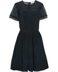 MICHAEL Michael Kors Michl Michl Kors Broderie Anglaise Cotton Blend Dress Midnight Blue
