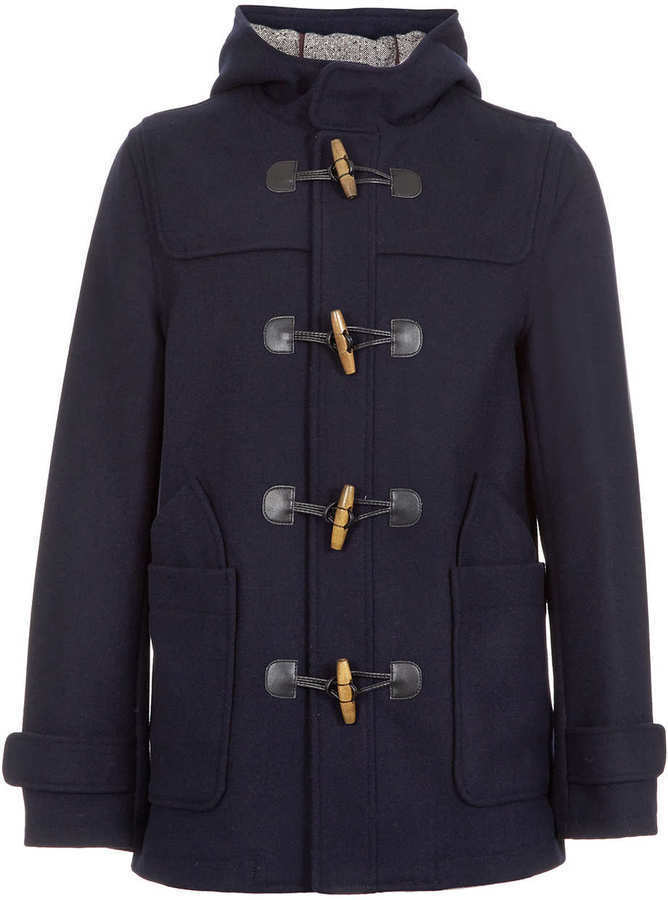 Topman Navy Wool Duffle Coat | Where to buy & how to wear