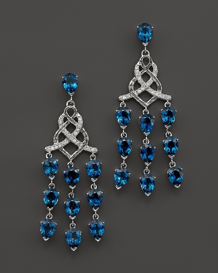 John hardy sterling silver classic chain chandelier earrings with john hardy sterling silver classic chain chandelier earrings with london blue topaz and diamonds mozeypictures Gallery
