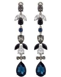 Oscar de la Renta Teardrop Crystal Embellished Earrings