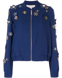 Michael Kors Michl Kors Flower Embellished Bomber Jacket