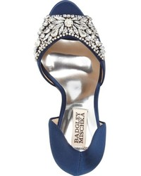 Badgley Mischka Candance Crystal Embellished Dorsay Pump