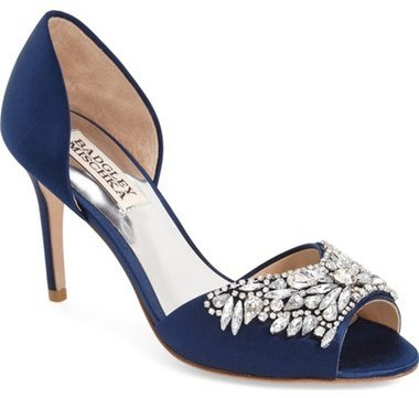 Badgley Mischka Candance Crystal Embellished Dorsay Pump