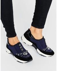 Carvela Lamb Embellished Sneakers