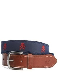 Embroidered skull crossbones belt medium 783995