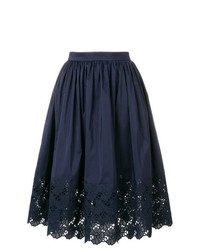 Lanvin Embroidered Trim Skirt