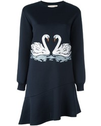 Stella McCartney Embroidered Swan Sweater Dress