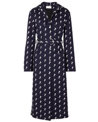 Chloé Embroidered Wool Twill Trench Coat