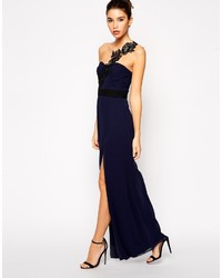 c1c2884a201 ... Asos Petite Maxi Dress With Crochet One Shoulder ...
