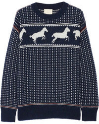 Navy Fair Isle Crew-neck Sweater