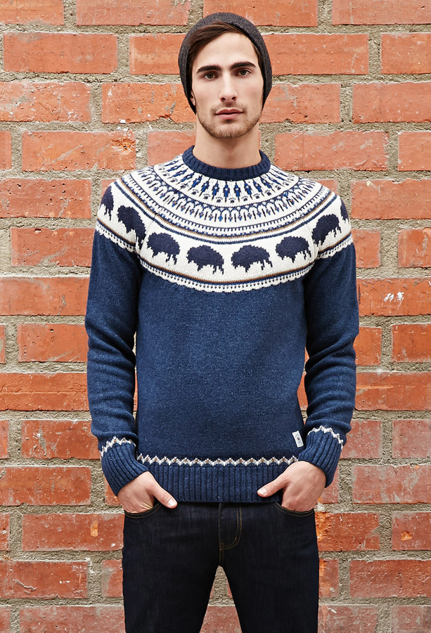 21men 21 Bellfield Bison Fair Isle Sweater | Where to buy & how to ...
