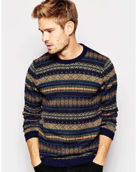 Brand sweater with fairisle pattern medium 360985