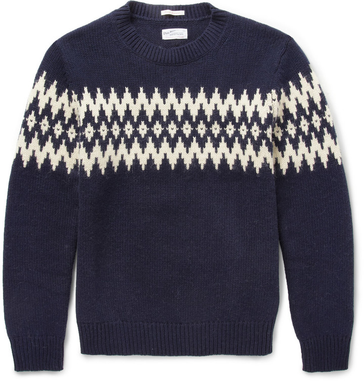 Gant Rugger Fair Isle Jacquard Wool Blend Sweater | Where to buy ...