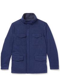 Loro Piana Storm System Reversible Cashmere Jersey Field Jacket
