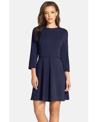Navy Fit and Flare Dress