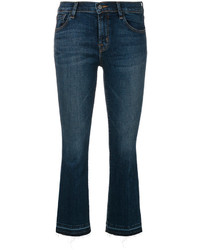 J Brand Faded Cropped Bootcut Jeans