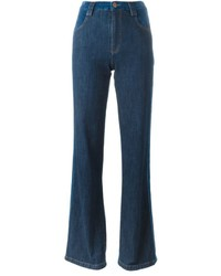 See by Chloe See By Chlo Stripe Appliqu Flared Jeans