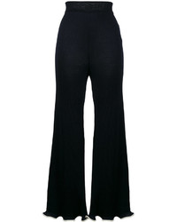 Stella McCartney Ribbed Frilled Kick Flare Trousers