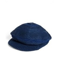 Navy Flat Cap