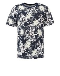 Warm springs print t shirt navy blue medium 4205247