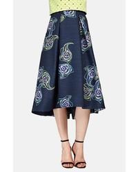 Phoebe Print Jacquard Midi Skirt