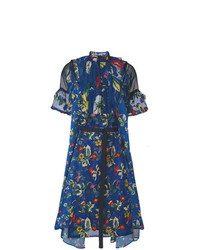 Sacai Floral Printed Panel Dress