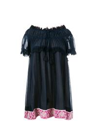 Chloé Off Shoulder Embroidered Dress
