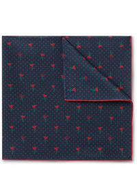 Gucci Printed Silk Pocket Square