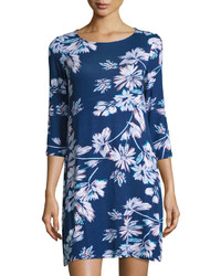Navy Floral Shift Dress