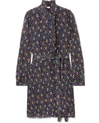 Tory Burch Deneuve Ruffled Floral Print Pliss Tte Dress