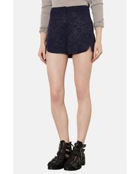 Topshop Floral Jacquard Shorts
