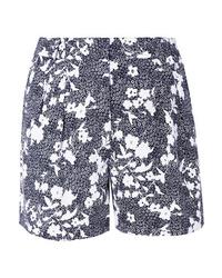 MICHAEL Michael Kors Pleated Floral Print Piqu Shorts