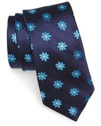 London floral silk tie medium 842472