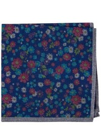 London floral wool pocket square medium 792569