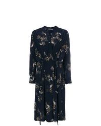 Vince Floral Print Wrap Dress