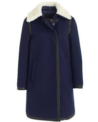 J.Crew Collection Shearling Collar Coat