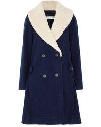 JW Anderson Oversized Shearling Trimmed Wool Coat