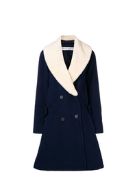 JW Anderson Swing Coat With Shearling Collar
