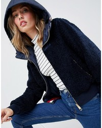 Tommy Hilfiger Reversible Teddy Jacket With Hood