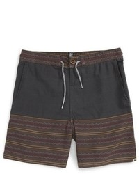 Volcom Boys Divide Geo Stripe Shorts