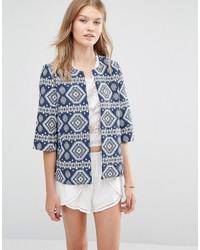 Geo printed jacket medium 738737