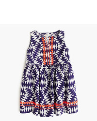 J.Crew Girls Sleeveless Dress In Geo Pop