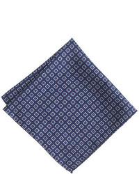J.Crew Italian Silk Pocket Square In Medallion Print