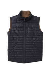 Loro Piana Marlin Reversible Quilted Rain System Microfibre And Virgin Wool Blend Gilet