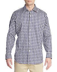 Navy Gingham Dress Shirt