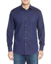 Classic fit gingham sport shirt medium 601532