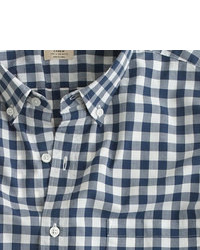 Secret wash shirt in faded gingham medium 80969