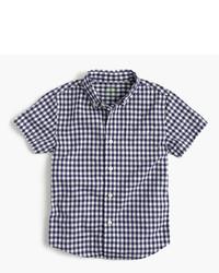 J.Crew Kids Short Sleeve Secret Wash Shirt In Gingham